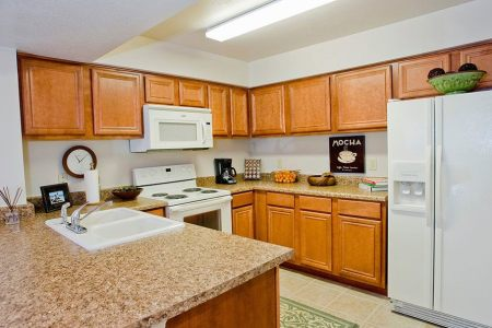 luxury kitchen at tulsa apartments