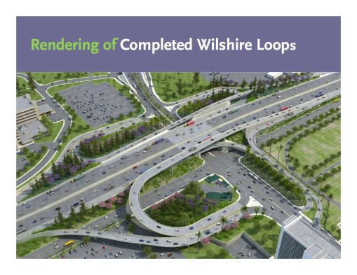 A look at the new Wilshire ramp configuration. Rendering: Metro.