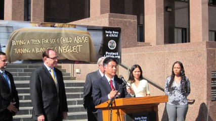 California Senator Ted Lieu speaks of his support on the crackdown of illicit child sex trafficking.