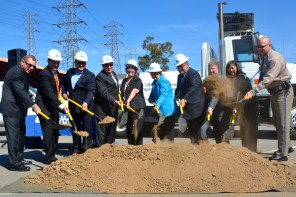 Groundbreaking for I-5/Florence Avenue Interchange Project.