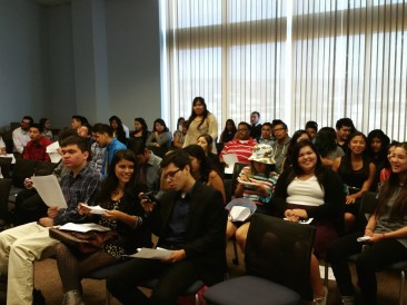 Students from East Los Angeles Renaissance Academy at Metro headquarters.