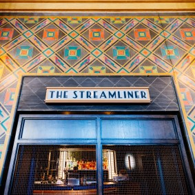 Restaurant entrance to The Streamliner.