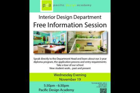 free interior design information session victoria city