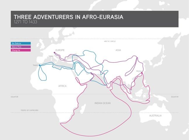 Three adventurers map.