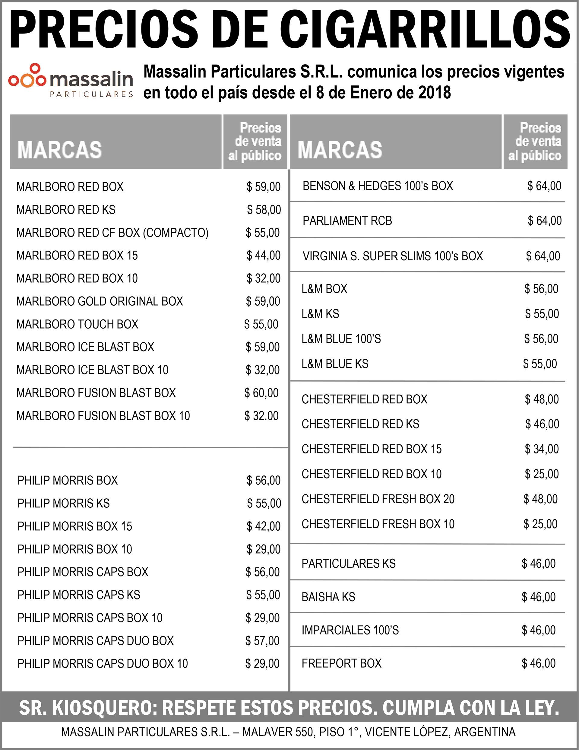 image of Precio Cigarrillos Argentina 2018 01