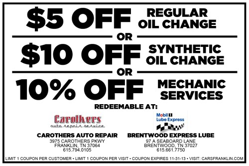 Coupon terrible herbst oil change
