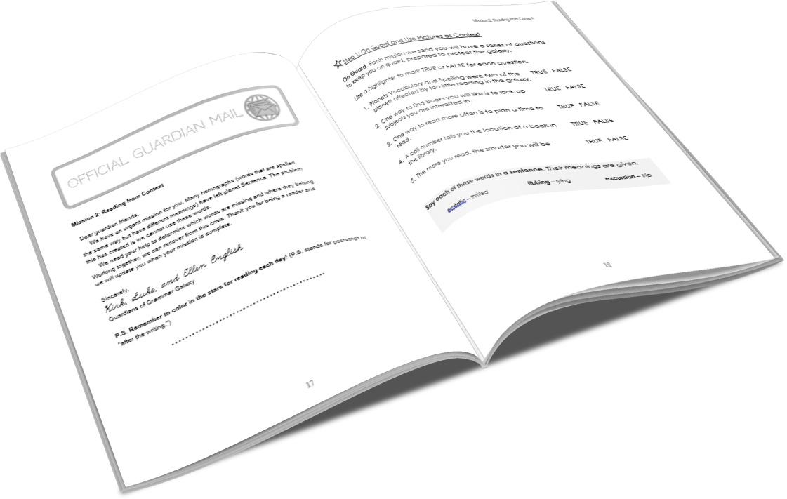 Grammar Galaxy Nebula PRINT Kit (Text & Mission Manual