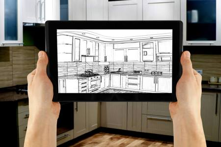 interior design software on a tablet
