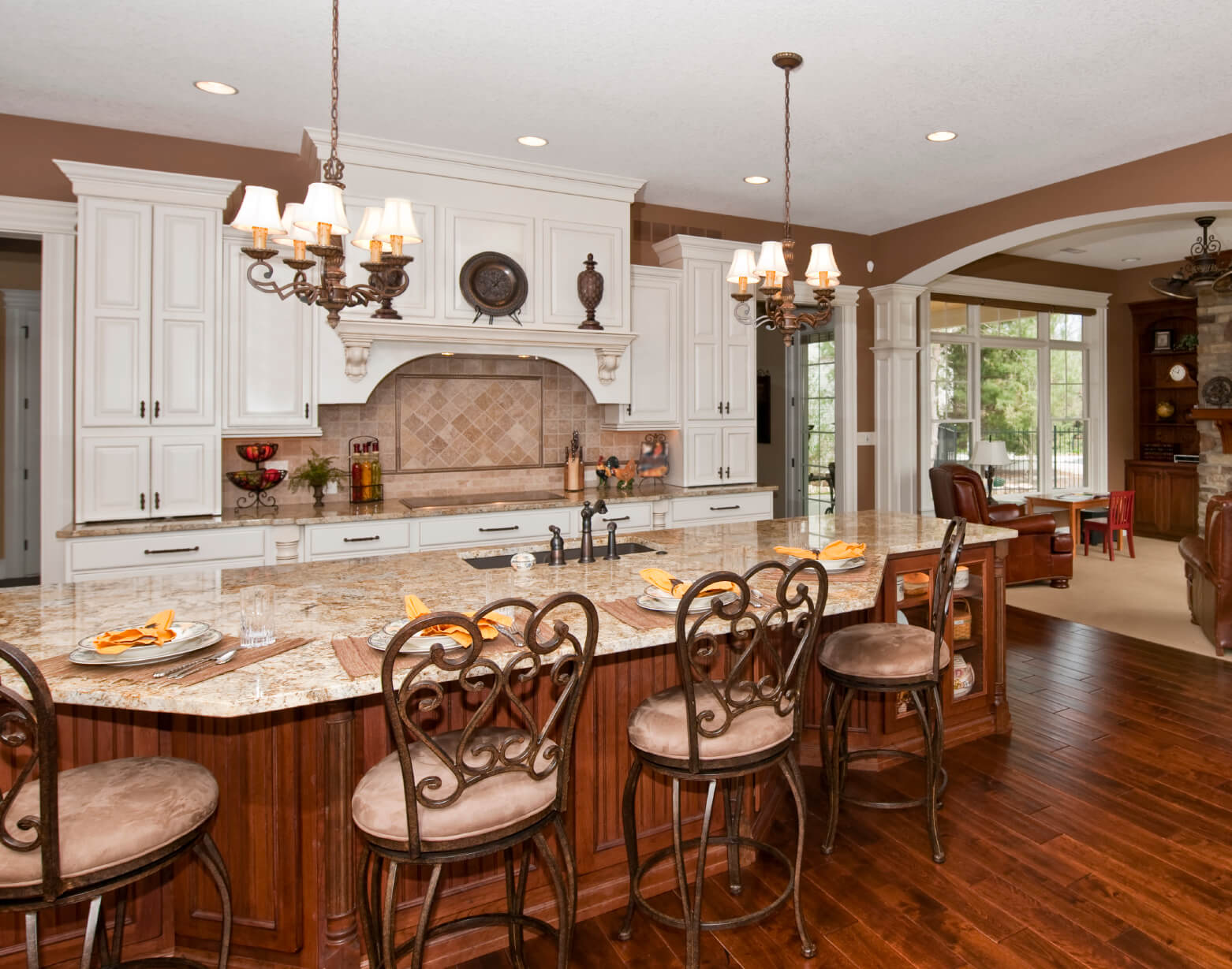 Comfortable Open Kitchen Features Immense Island Done Wood Kitchen Island Ideas Large Custom Built Kitchen Islands Large Custom Made Kitchen Islands kitchen Large Custom Kitchen Islands