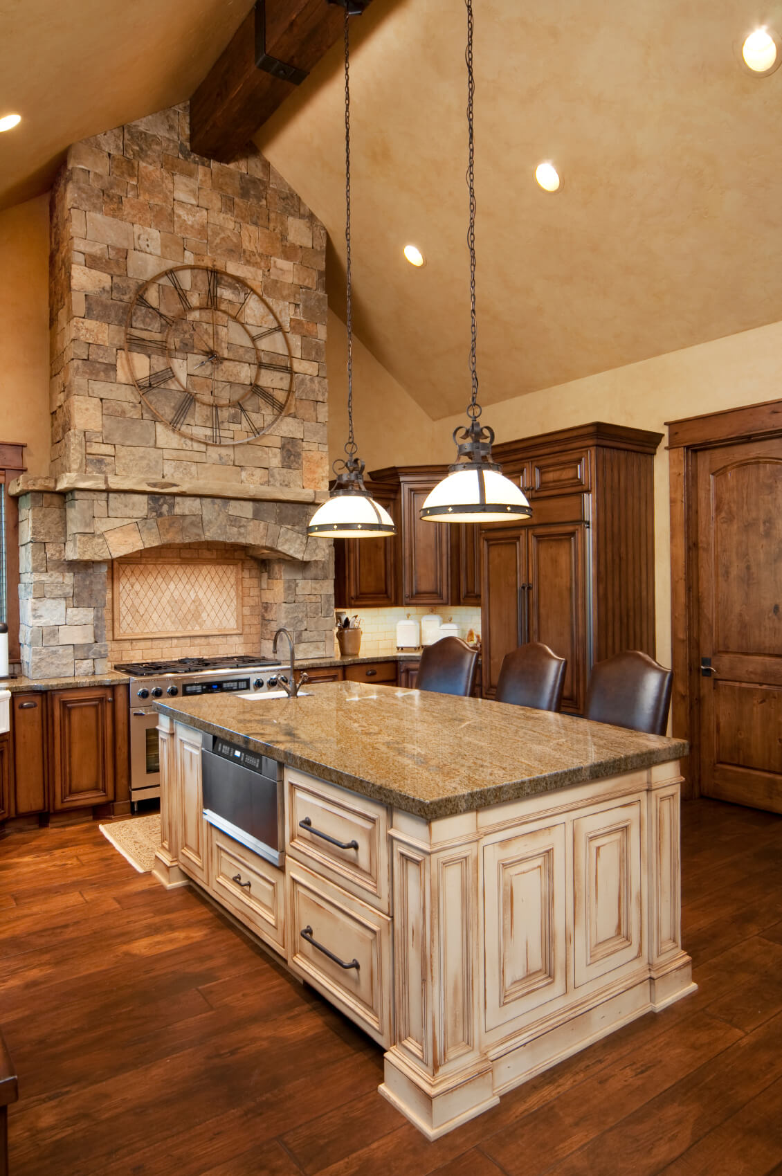 Charm Wood Kitchen Hs This Contrasting Light Wood Islandat Kitchen Island Ideas Black Wood Kitchen Island Black Kitchen Island Wood kitchen Black Wood Kitchen Island