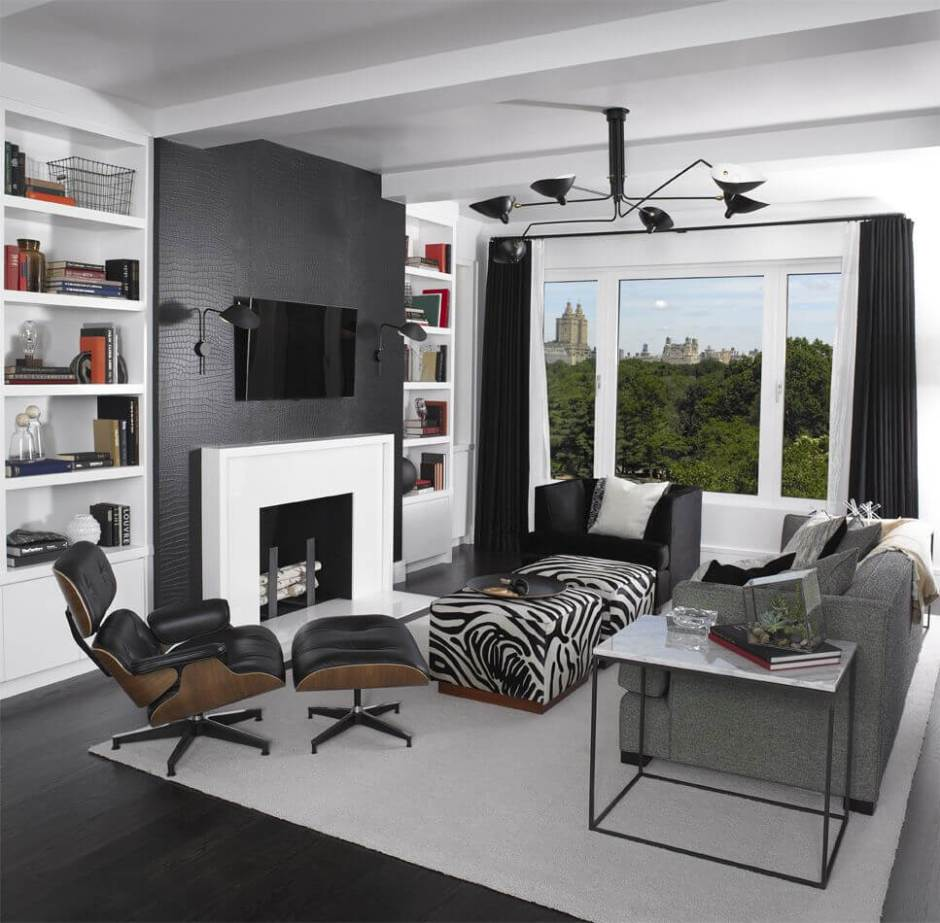 Zebra Print Living Room Set Living Room Chair Ottoman Trays Furniture Living Room Octagonal