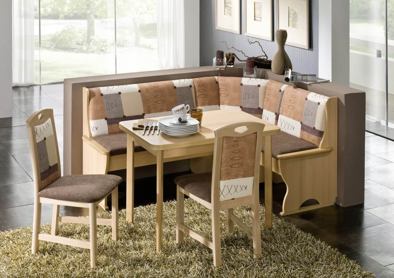 breakfast nook furniture sets kitchen table sets Earth Tone L Shaped Breakfast Nook Table and Bench