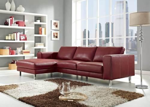 Medium Of Modern Leather Sofa
