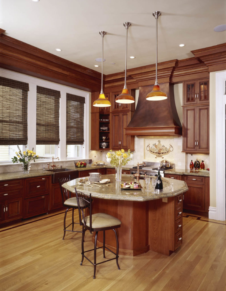 kitchens with light and honey wood floors wood floor kitchen The light floor used in this kitchen brings out the light shades of the countertop and