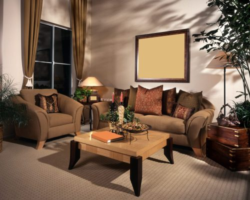 Joyous Living Room Styles Examples Warm Color Combinations Walnut Surfaced Over Furnitureand Extravagant Sofa Set Types Tv Interior Design Decoration Living Room Interior Design Ideas Living Room Mapl