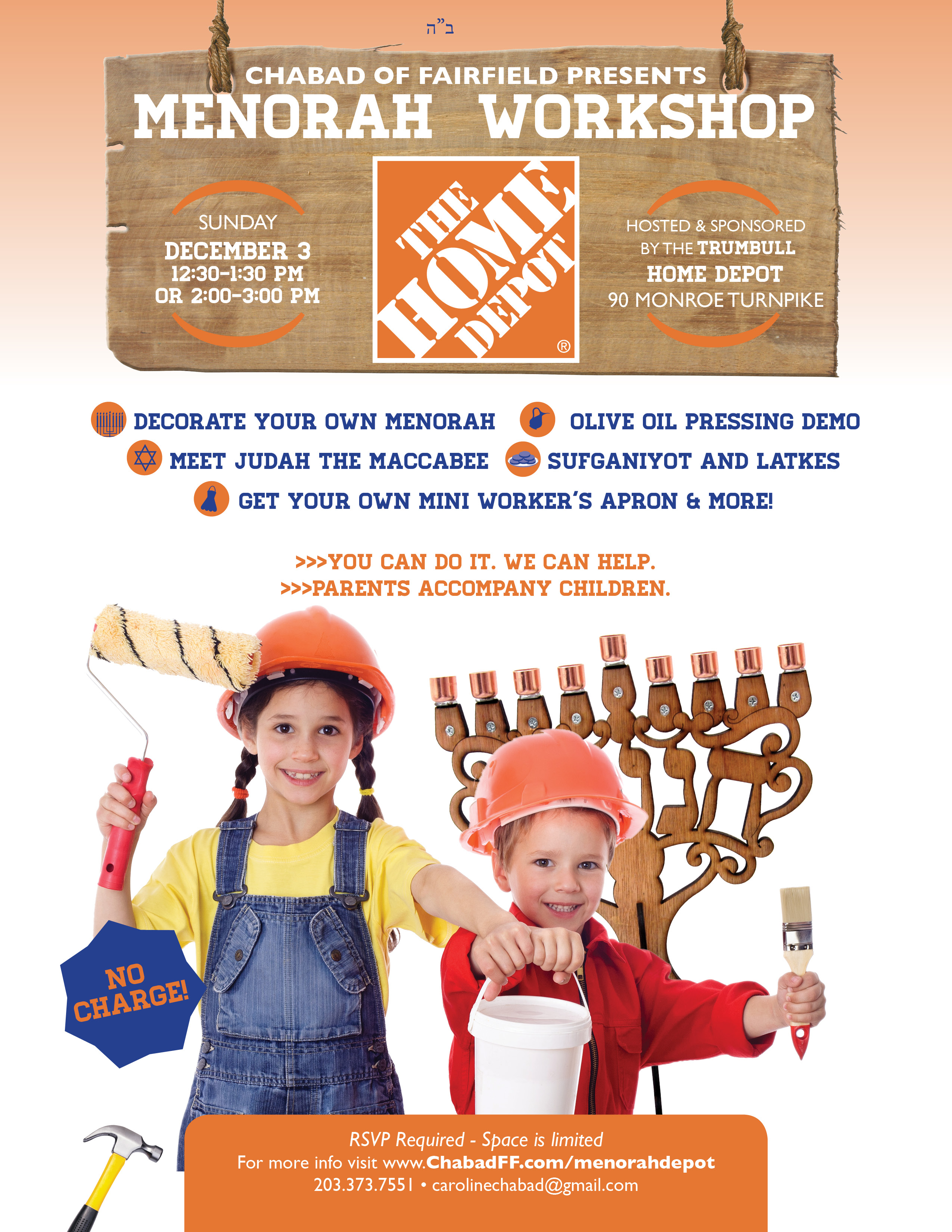 Modish Two Chabad Fairfield Presents A Menorah Workshop At Trumbull Home Depot On December Fairfield Hosts A Menorah Workshop Home Depot Norwalk Ct Truck Rental Home Depot Norwalk Ct Directions Ct Cha houzz-03 Home Depot Norwalk Ct