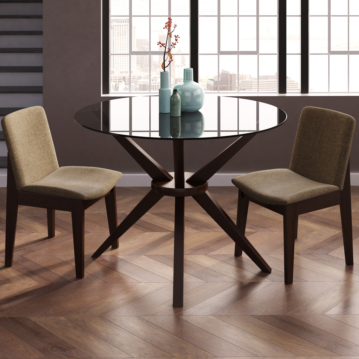Charmful Magna Round Glass Table Glass Room Table Round Glass Room Table houzz-02 Glass Dining Room Table