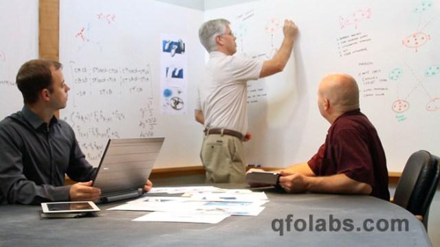 QFO Labs team looking like we're working
