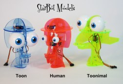 Human model included in all kits. Toon and Toonimal included in StarBot Menagerie Kit.