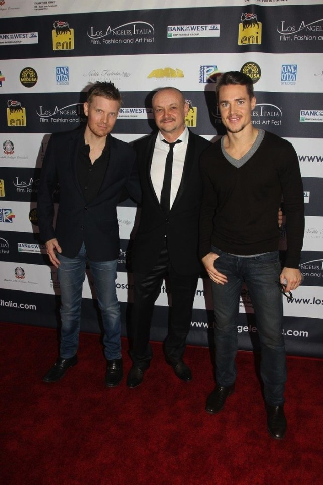 "Hunter Lee Hughes, Marco Puccioni, Alexander Dreymon at ""Like the Wind"" screening"