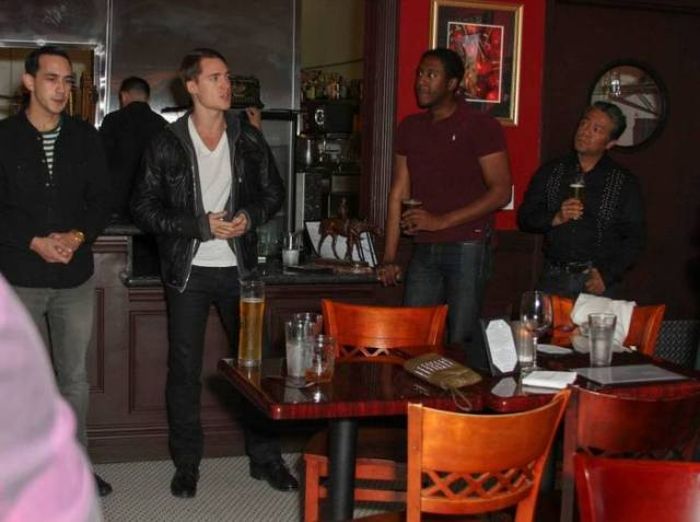 Alexander Dreymon thanks our backers at 'The Addiction Bistro' Photo by: Michael J Douglass