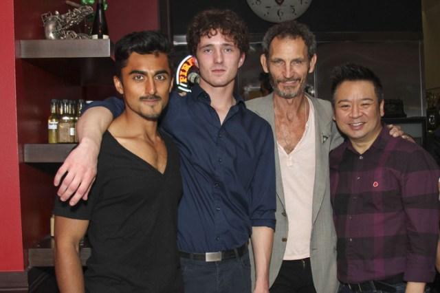 From left: Gopal Divan, Blake Sheldon, Sammy Dean Kusler, Rex Lee at 'The Addiction Bistro' Photo by Michael J. Douglass