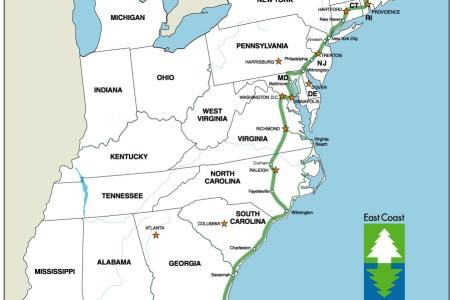 map of east coast usa and caa