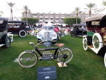1912 Pierce-Arrow 4-cylinder Motorcycle (photo: Bob Golfen)