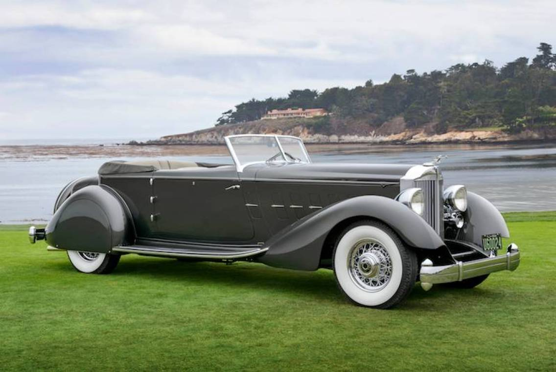 1934 Packard 1108 Twelve Dietrich Convertible Victoria