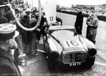 1951 Ferrari 340 America Touring Barchetta at Le Mans (Courtesy of the Flavien Marcais Collection)