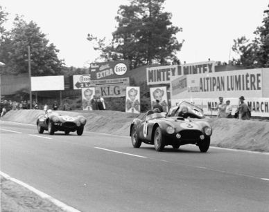 1954 Ferrari 375 Plus 0384AM at the 24 Hours of Le Mans (photo: GP Library)