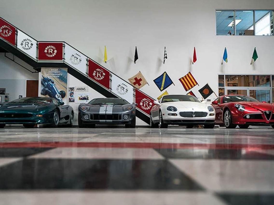 1994 Jaguar XJ 220, a 2006 Ford GT, a 2006 Maserati Gran Sport Victory Cambiocorsa and a 2008 Alfa Romeo 8C Competizione