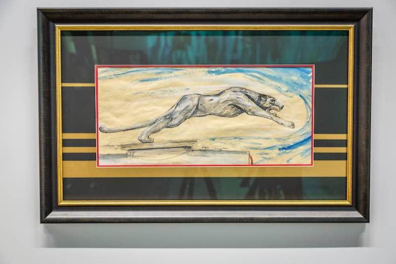 Untitled Leaping Greyhound Radiator Badge Sketch