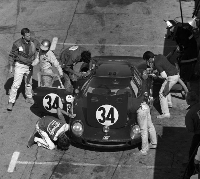 1964 Ferrari 250 LM at 1968 24 Hours of Daytona (photo: Bill Warner)