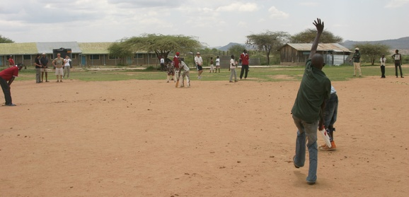 The Dik-Diks Coaching Children At Il Polei Primary School