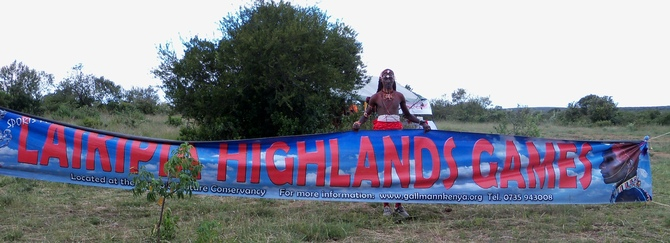 At the Laikipia Highland Games promoting peace through cricket