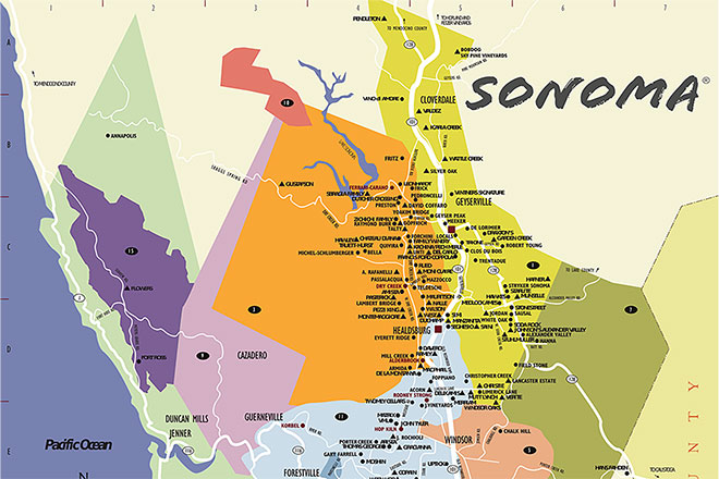 Sonoma County Wine Country Maps   Sonoma com Sonoma County Winery Map