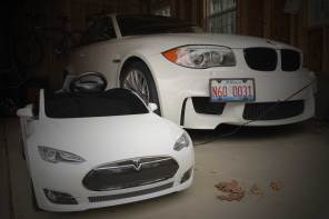 Review: Tesla Radio Flyer vs the BMW M4 Electric Ride-on Car