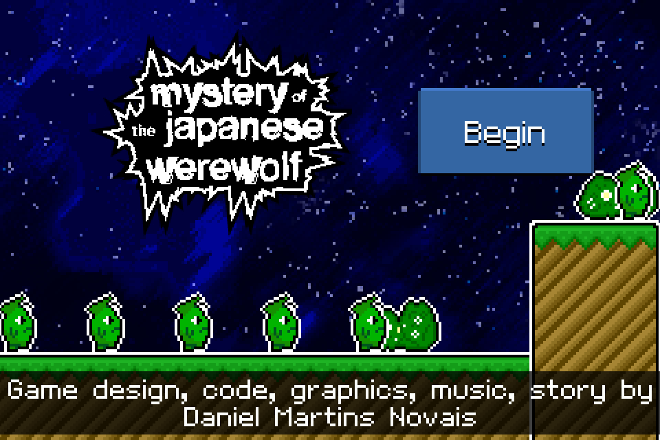 Mystery of the Japanese Werewolf Title Screen
