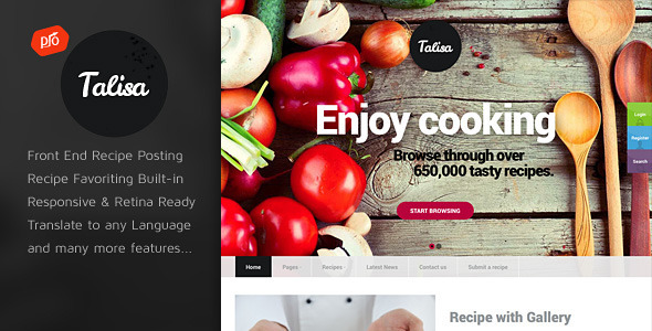 Download Talisa - Food Recipes WordPress Theme Recipe WordPress Themes