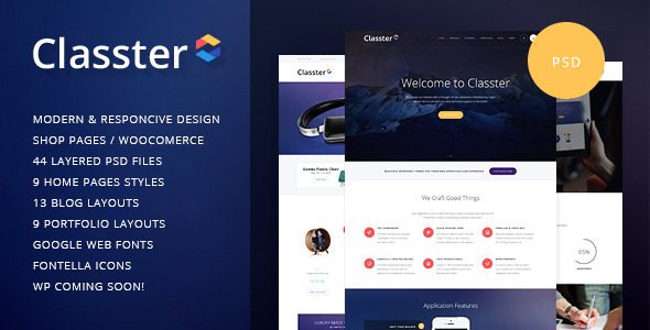 Download Classter | Multi-Purpose PSD Template Portal Joomla Templates