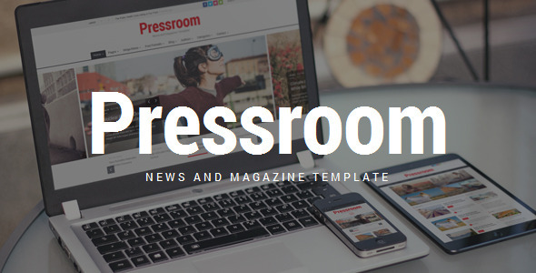 Download Pressroom - Responsive News and Magazine Template Newspaper Html Templates