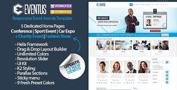 Download Eventus - Responsive Event Joomla Template Event Joomla Templates