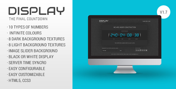 Download Display - The Final Countdown Black Joomla Templates