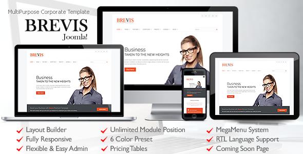 Download Brevis MultiPurpose Corporate Joomla Template Portal Joomla Templates