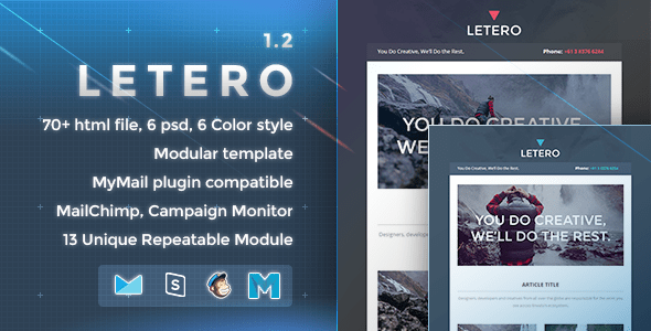 Download Letero - Responsive Email Template Brown Html Templates
