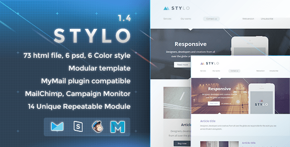 Download Stylo - Responsive Email Template Brown Html Templates
