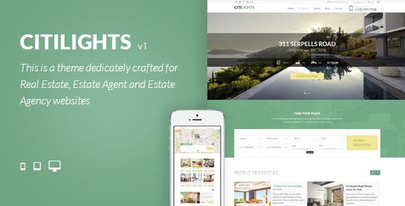 Download CitiLights - Premium Real Estate HTML Template Portal Html Templates