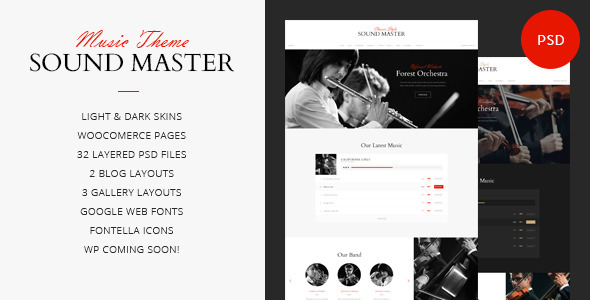 Download Sound Master | Music Band Template Music Joomla Templates
