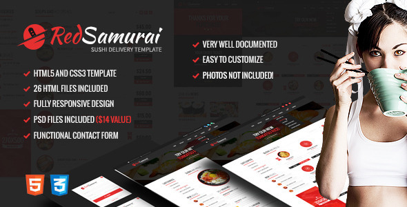 Download Red Samurai HTML5 and CSS3 Responsive Template Red Html Templates